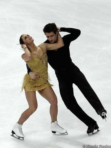 Tessa Virtue & Scott Moir wallpaper possibly with a leotard, tights, and a playsuit titled wolrds 2011