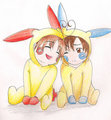 Italy Bros. As Plusle and Minun - hetalia-italy photo