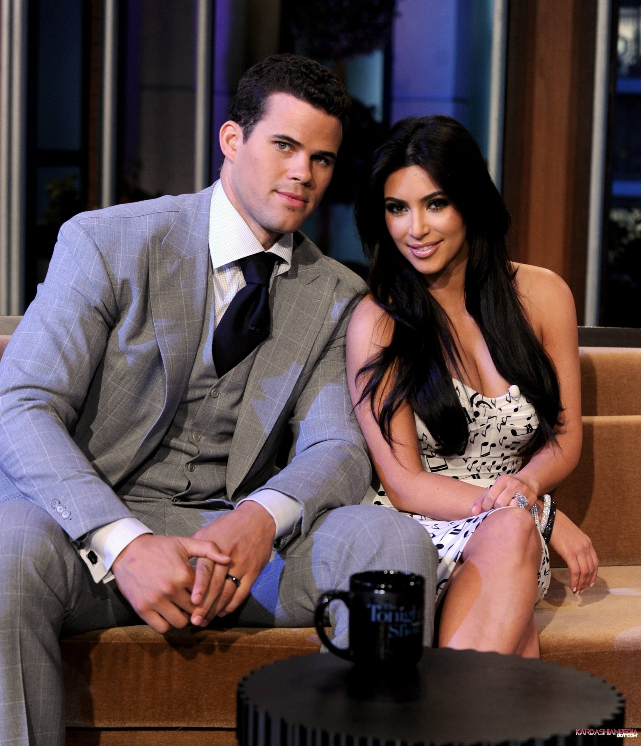 Kim and Kris on The Tonight Show with Jay Leno - 04/10/2011