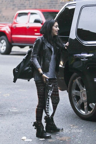 Lourdes Ciccone Leon wallpaper containing a hip boot titled Lourdes Leon on her Way to School in NYC
