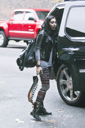 Lourdes Ciccone Leon wallpaper with a hip boot titled Lourdes Leon on her Way to School in NYC