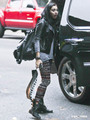 Lourdes Leon on her Way to School in NYC