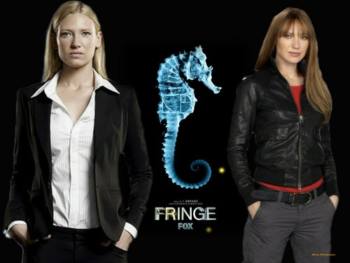 Fringe wolpeyper with a well dressed person called Agent Olivia Dunham