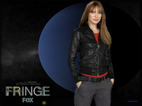 Fringe wallpaper probably with a well dressed person, a business suit, and an outerwear titled Agent Olivia Dunham
