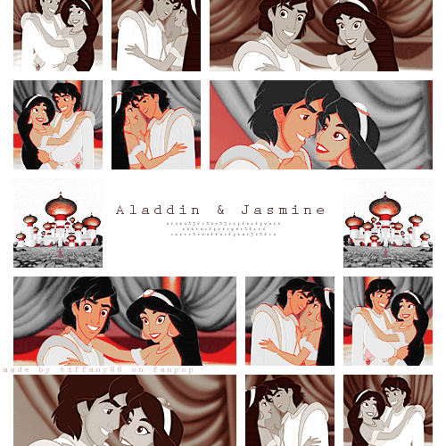 Aladdin and melati, jasmine ~ ♥