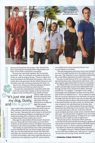 Alex O'Loughlin - Aussie TV Week (scan) October2011