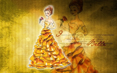 Beauty and the Beast wallpaper possibly containing anime called Belle
