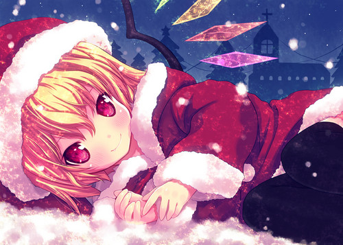 CUTE Flandre in the 圣诞节 Snow ^^