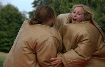 Candice and Kayla Ewell sumo wrestling! [Rare pic]