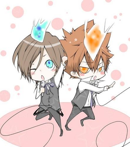Чиби Tsuna & Basil