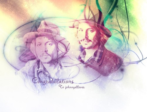 Johnny Depp wallpaper titled Congratulations To johnnydlover