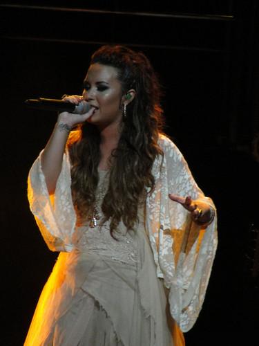Demi performing 2011