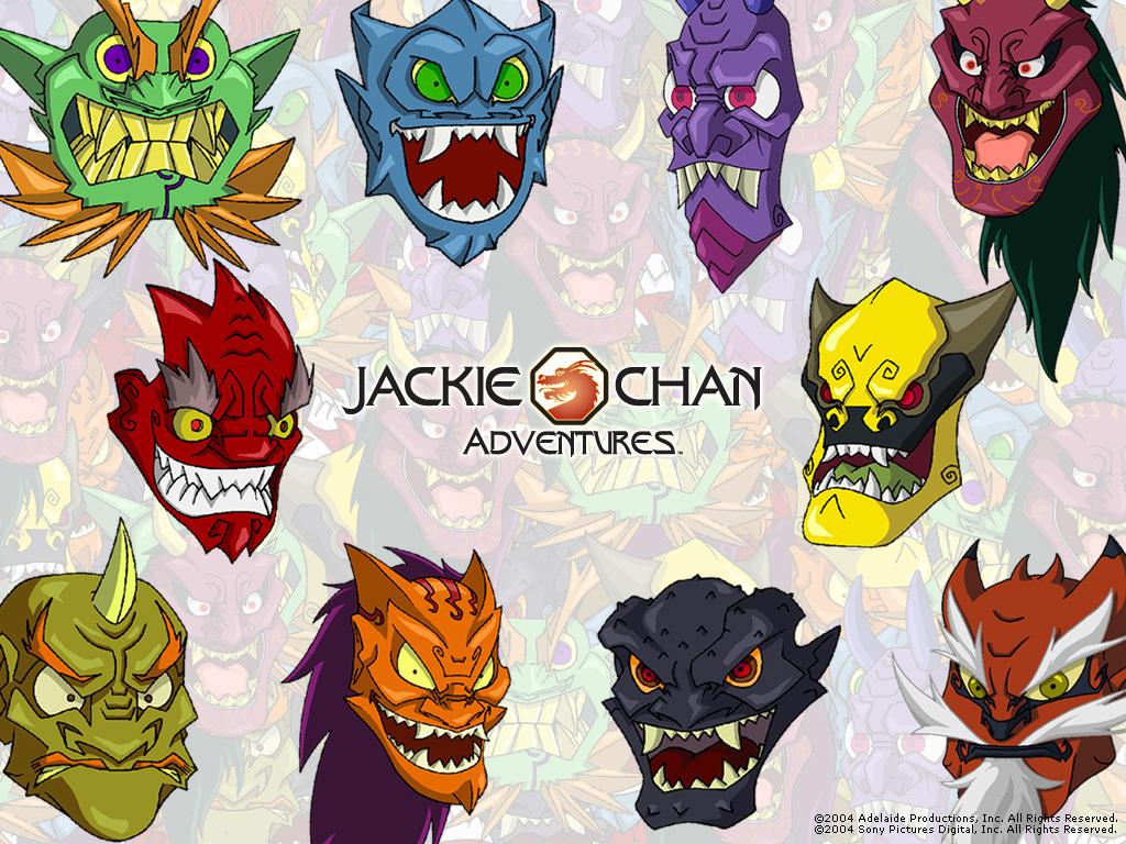 Jackie Chan Adventures Bilder Evil Masks Hd Hintergrund And