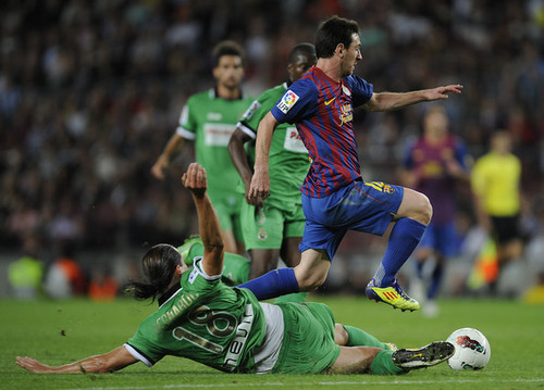 FC Barcelona (3) - Racing Santander (0) [La Liga]