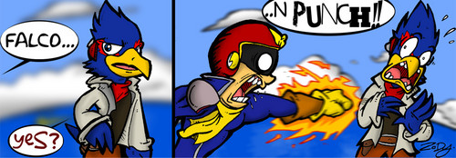 Falco and Captain Falcon