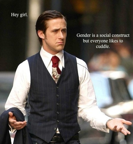 Feminism wallpaper containing a business suit called Feminist Ryan Gosling