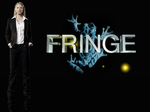 Fringe wallpaper with a business suit and a well dressed person titled Fringe