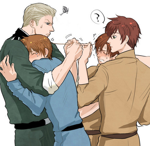 Germany x Italy and Spain x Romano