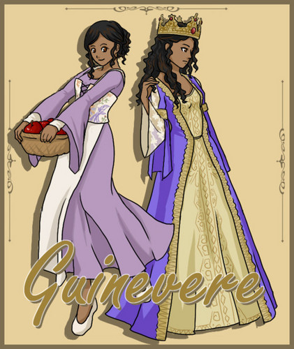 Arthur and Gwen wallpaper with anime entitled Guinevere