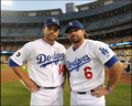 Jamey Carroll &amp; Aaron Miles - los-angeles-dodgers photo