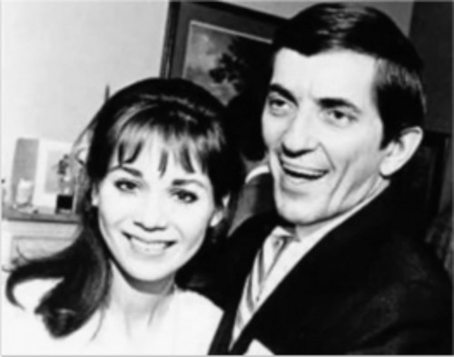 Dark Shadows wallpaper containing a portrait called Jonathan Frid and Kathryn Leigh Scott