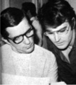 Jonathan Frid and Don Briscoe - dark-shadows photo