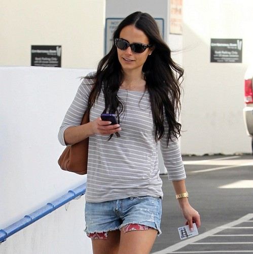 Jordana - Leaving an Office in Beverly Hills, Jan 25. 2011