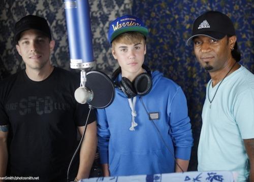 Justin in the studio