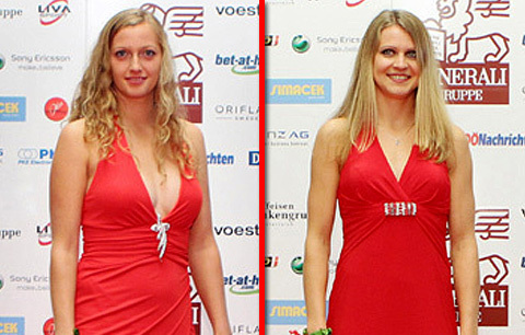 Kvitova and Safarova red