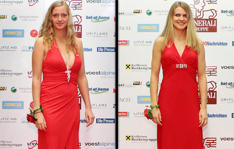 Kvitova and Safarova red