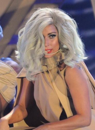 Lady Gaga performing at Bill Clinton foundation concerto