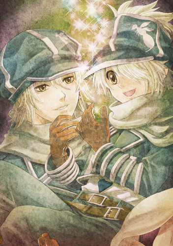 Lag and Gauche - tegami-bachi Fan Art