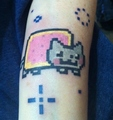 Nyan Tattoo - nyan-cat fan art