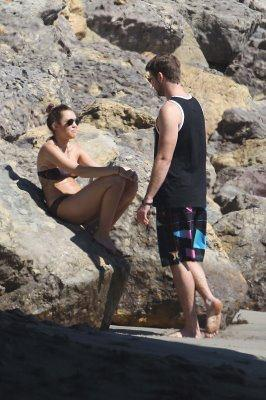 October 14 at the Malibu pantai with Liam