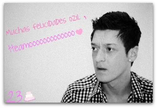 Mesut Özil wallpaper containing a portrait titled Oziiiiiiiiiil, Feliciddades ♥