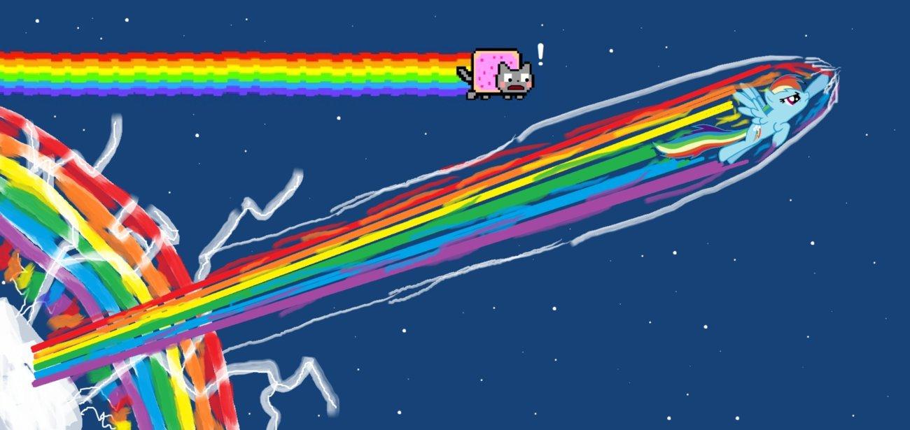 My Little Pony Rainbow Dash Nyan