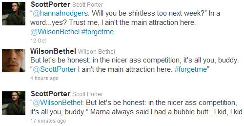 Scott Porter & Wilson Bethel's Twitter Conversation