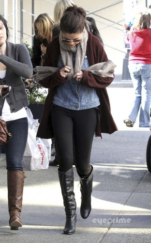 Selena Gomez out in Victoria, Canada. October 13