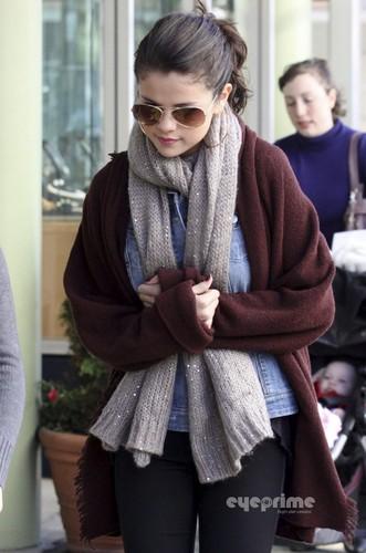 Selena Gomez out in Victoria, Canada. October 13