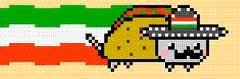 Nyan Cat Hintergrund titled taco Cat