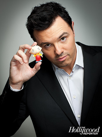 Seth MacFarlane wallpaper possibly containing a business suit entitled The Hollywood Reporter
