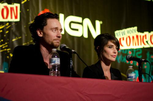 Tom Hiddleston @ The Avengers Panel @ New York Comic Con 2011