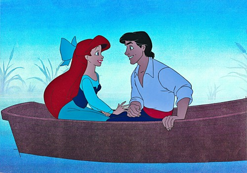 Walt Дисней Production Cels - Princess Ariel & Prince Eric