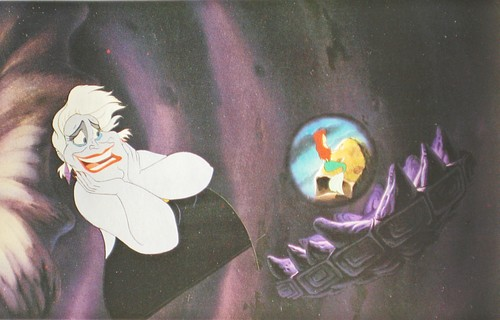 Walt disney Production Cels - Ursula & Princess Ariel