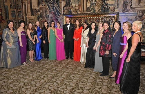 William&Catherine at 100 Women in Hedge Funds fundraiser for Child Bereavement Charity
