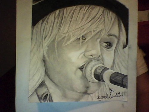 experimenting with a new style of drawing. sketch of Keith Harkin