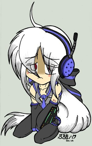 haku is a vocaloid too آپ made her sad