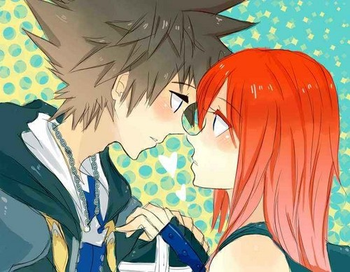 Kairi & Sora wallpaper containing anime entitled kairi and sora<3