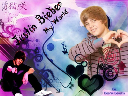 my boo - justin-bieber Wallpaper