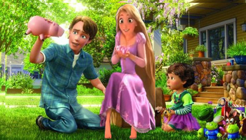 rapunzel and andy